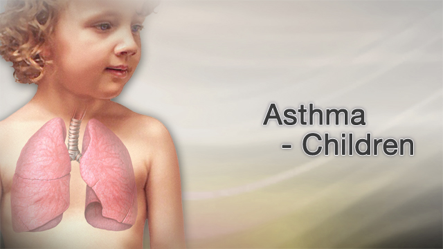 <div class=media-desc><strong>Asthma - children</strong><p>Asthma is caused by swelling and other signs of inflammation in the airways. When an asthma attack occurs, the muscles surrounding the airways become tight and the lining of the air passages swells. This reduces the amount of air that can pass by the bronchioles, or small tubes, of the lung. Most asthma attacks are caused by triggers, such as pollen, dust mites, mold, pet dander, cockroaches, tobacco smoke, and exercise.</p></div>